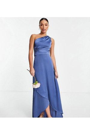 TFNC Ženy Maxi - Bridesmaid one shoulder maxi dress in charcoal-Grey