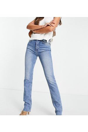 ASOS ASOS DESIGN Tall mid rise comfort stretch straight leg jeans in mid wash blue
