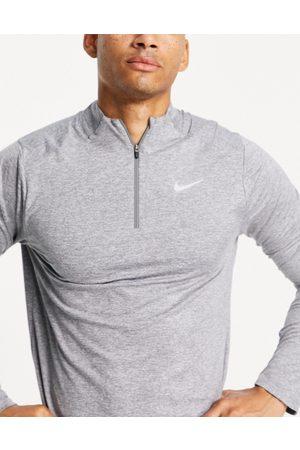 Nike Muži Bundy - Element half zip sweat in grey marl