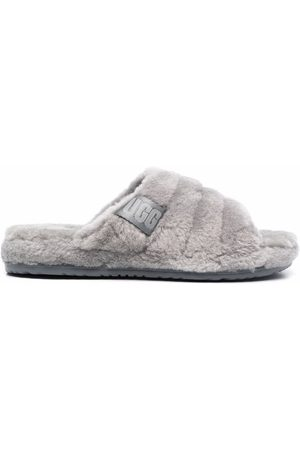 UGG Ribbed faux shearling slippers