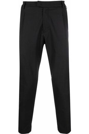 LOW BRAND Pleat-detail virgin wool-blend tailored trousers