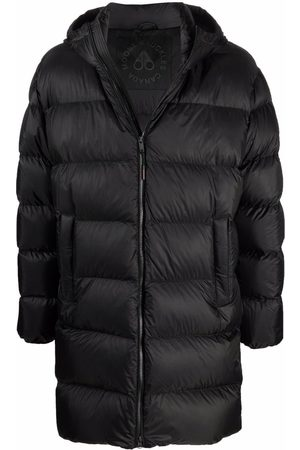 Moose Knuckles Logo-patch feather-down padded jacket
