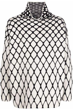 VALENTINO Intarsia-knit high-neck jumper