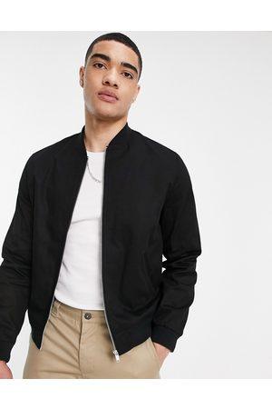 ASOS Essential bomber jacket in black