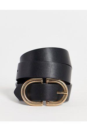 ASOS Waist and hip jeans belt in black