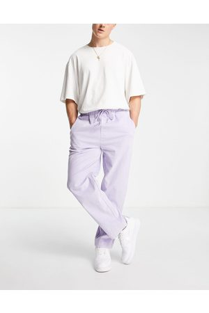 Another Reason Cord drawstring trousers in lilac-Purple