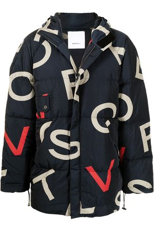 Ports V Logo-print oversized padded jacket
