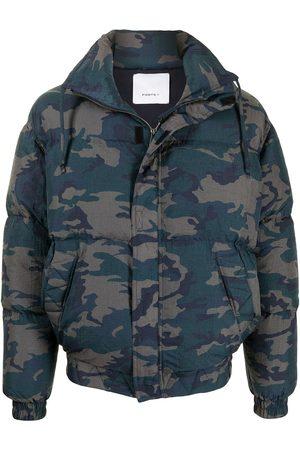 Ports V Heart Earth camouflage padded jacket