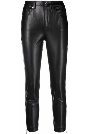 Michael Kors Faux-leather zip-detailed trousers