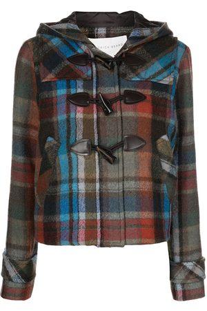 Veronica Beard Lanna duffle check-pattern coat