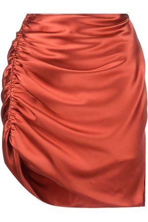 Michelle Mason Draped satin miniskirt