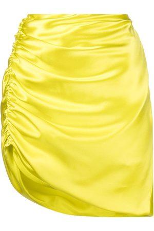 Michelle Mason Asymmetric silk mini skirt