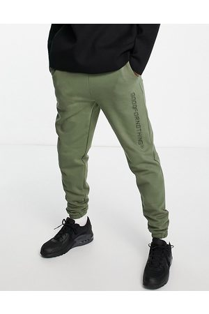 Good For Nothing Co-ord joggers in sage green with logo print