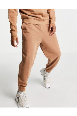 ASOS Co-ord oversized joggers in washed brown