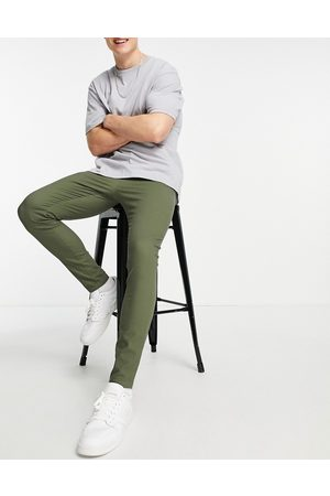 ASOS Extreme super skinny chinos in washed green
