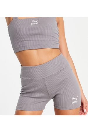 PUMA Ženy Kraťasy - Ribbed legging shorts in storm grey