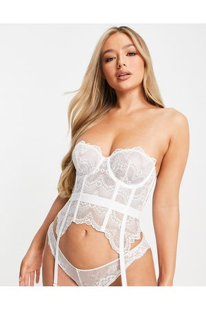 ASOS Rosie Bridal corset with lace up in white