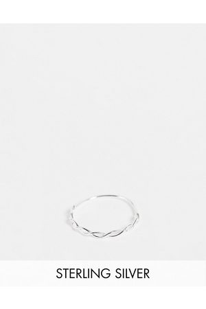 Kingsley Ryan Woven stacking ring in sterling silver
