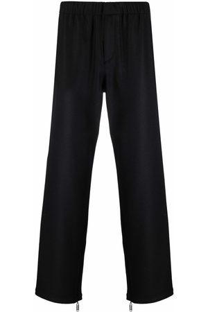 OFF-WHITE Elasticated-waistband straight-leg trousers