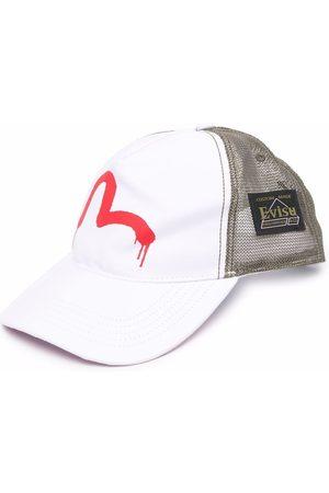 Evisu Muži Kšiltovky - Logo-print mesh cap
