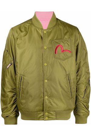 Evisu Logo-embroidered bomber jacket