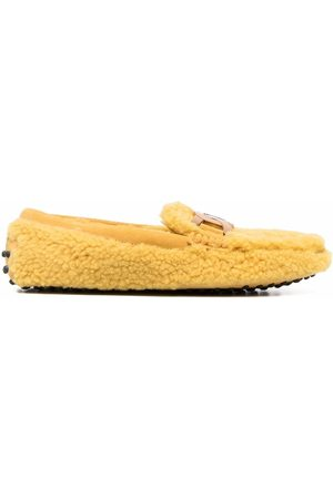 Tod's City Gommino shearling-trim loafers