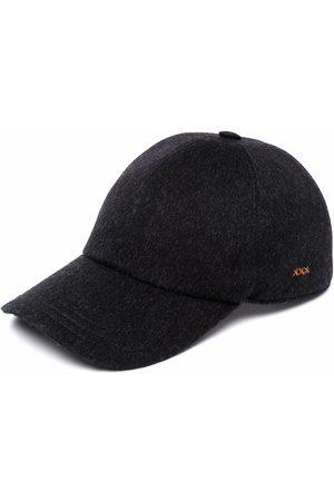 Ermenegildo Zegna Logo-plaque knitted cap