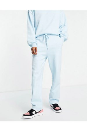 ASOS Co-ord straight leg jersey joggers in blue