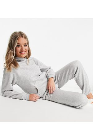 ASOS ASOS DESIGN Tall tracksuit ultimate oversized hoodie / jogger in grey marl