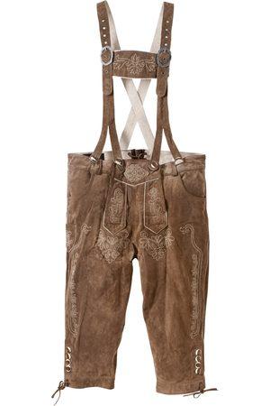 bonprix Kožené kalhoty pod kolena