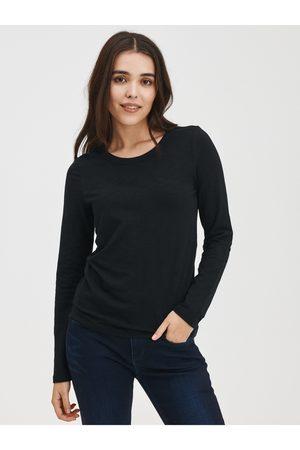 GAP Černé dámské tričko s dlouhým rukávem