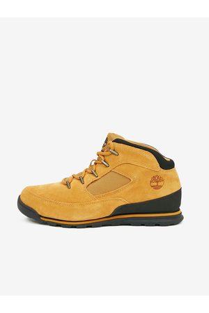 Timberland Muži Kotníkové - Světle hnědé pánské kotníkové kožené boty Euro Rock Heritage L/F Basic