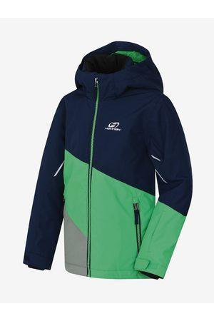 Cubus Zeleno-modrá dětská zimní nepromokavá lyžařská bunda