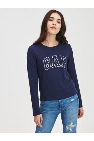GAP Modré dámské tričko easy s logem