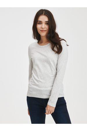 GAP Šedé dámské tričko s dlouhým rukávem