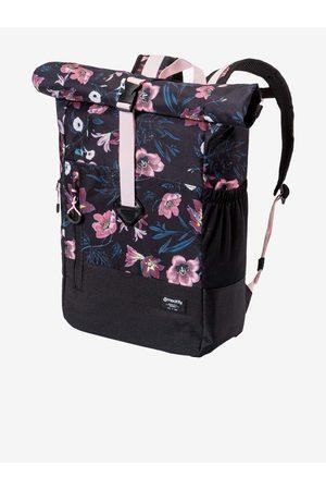 MEATFLY Růžovo-černý dámský květovaný batoh Holler