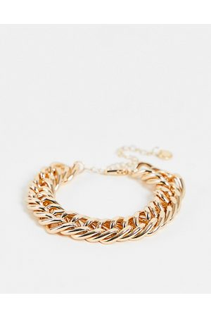 French Connection Chunky chain bracelet gold