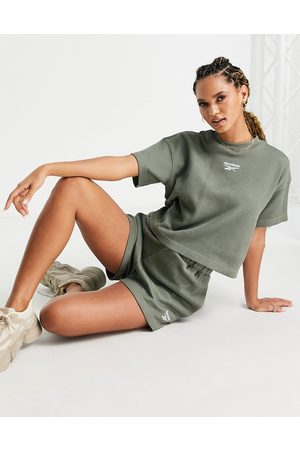 Reebok Waffle shorts in olive green exclusive to ASOS