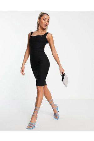 Vesper Ženy Přiléhavé - Bodycon midi dress in black