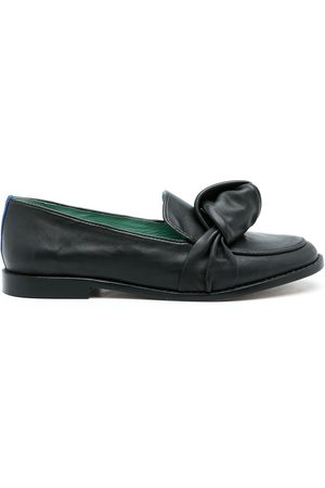 Blue Bird Knot leather loafers