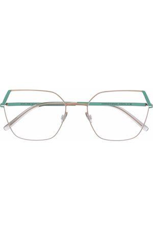 MYKITA Hexagon colourblock frame glasses