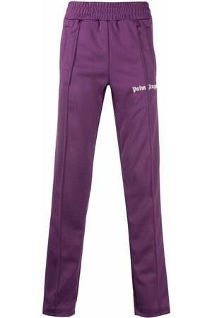Palm Angels CLASSIC TRACK PANTS BURGUNDY OFF WHITE