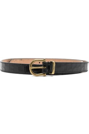Polo Ralph Lauren Crocodile-embossed leather belt