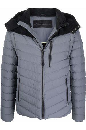 Moose Knuckles Corduroy-detail puffer jacket