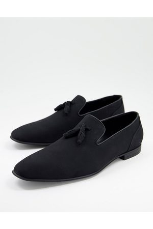 ASOS Loafers in black faux suede