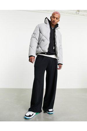 ASOS Muži Péřové bundy - Quilted puffer jacket in grey