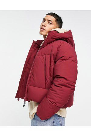 ASOS Muži Péřové bundy - Puffer jacket with hood in red
