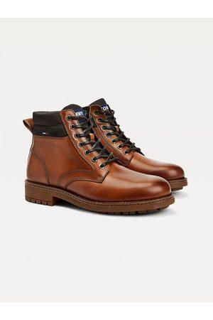 Tommy Hilfiger Muži Kotníkové - Pánské kotníkové hnědé boty