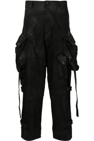 JULIUS Gas Mask coated cargo pants