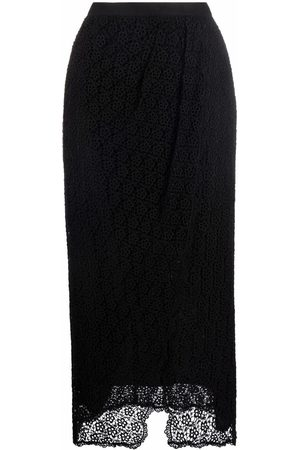 Isabel Marant Floral lace draped skirt